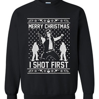 Star wars han solo Ugly Christmas Sweater sweatshirt unisex adults size S-2XL