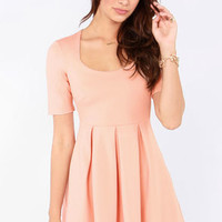 Mink Pink Heartbeat Blush Dress