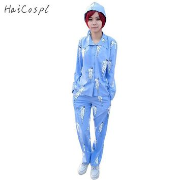 Cool Attack on Titan  Cosplay Sleepwear Suit Anime Costume no  Giant Print Long Sleeve Top Pants Hat Women Girls Fancy AT_90_11