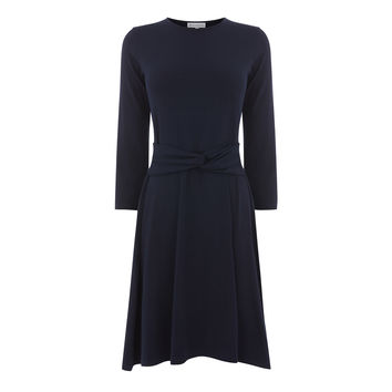 LONG SLEEVE TWIST BELT DRESS