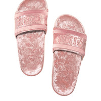 Velvet Single Strap Slide - PINK - Victoria's Secret