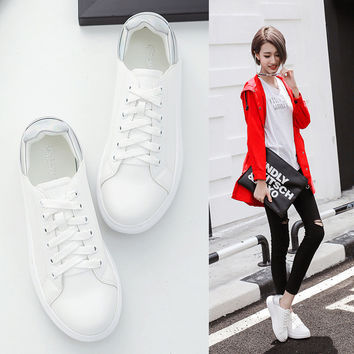Hot Deal On Sale Hot Sale Stylish Comfort Leather Shoes Rubber Thick Crust Casual Sneakers [8564301959]