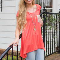 Perfect Pocket Top, Coral
