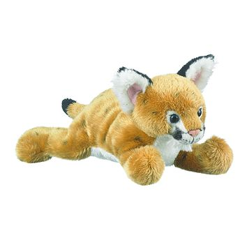9 Inch Laying Mountain Lion Cougar Cub Floppy Plush Zoo Stuffed Animals