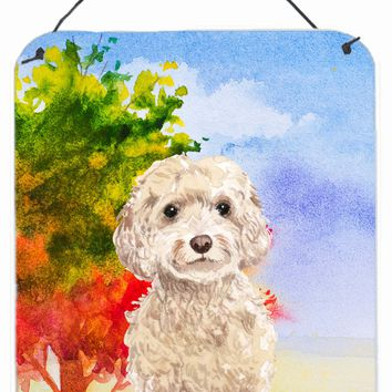 Fall Goldendoodle Wall or Door Hanging Prints CK1949DS1216