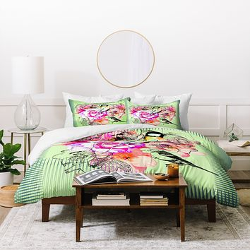 Bel Lefosse Design Birds And Flowers Duvet Cover