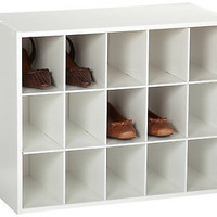 Shoe Organizer 15 Pair Closet Holder Tier Shoes Cubby Storage Rack