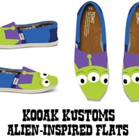 KOOAK Kustoms Disney Pixar Toy Story Alien-Inspired Toms Flats Adult Sizes