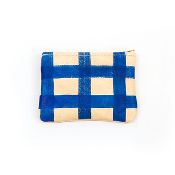 Painted Plaid Mini Pouch