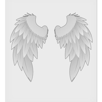 """Epic Angel Wings Design 9 x 10.5"""" Rectangular Static Wall Cling by TooLoud"""
