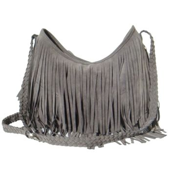 2017 Fashion Women's Suede Weave Tassel Shoulder Bag Messenger Bag Fringe Handbags WML99