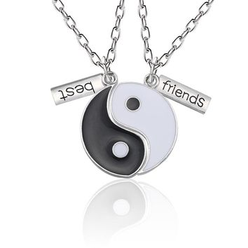 Trendy Best Friend Jewelry Pendant Best Friends Forever Necklace BFF Necklaces For Women Tai Chi Necklaces&Pendants For 2