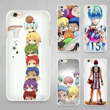 Kuroko no Basket kawaii anime Hard White Cell Phone Case Cover for Apple iPhone 4 4s 5 5C SE 5s 6 6s 7 8 Plus X