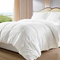 My Sweet Home Goose Down Alternative Comforter, Queen, White