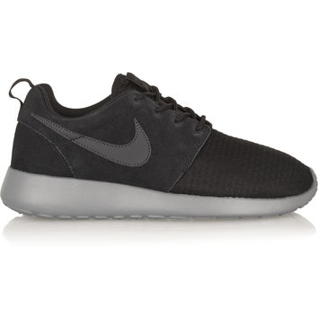 Nike - Roshe Run Winter mesh and suede sneakers