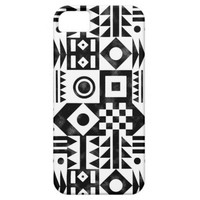 Black White Abstract Geometric Tribal Pattern iPhone 5 Case