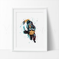 War Path X-men Watercolor Art Print