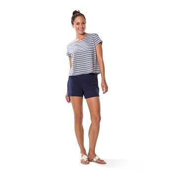 Ponte Shorts in Navy by Sail to Sable