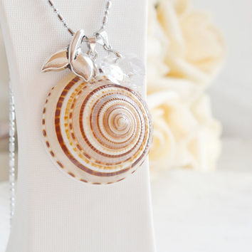 sea shell necklace,whale tail necklace,heart jewelry,whales ocean life,seashell beach wedding,bridesmaid,mermaid tears,ocean inspired,bff