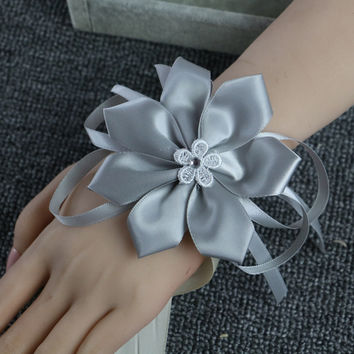 Wrist Corsage Bridesmaid Sisters hand flowers Artificial Bride Flowers For Wedding Party Decoration Bridal Prom A036