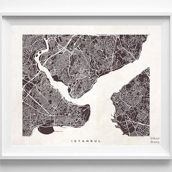 Istanbul Poster, Turkey Print, Istanbul Print, Turkey Poster, Street Map, Home Goods, Bedroom Wall Art, Anniversary Gift, Halloween Decor