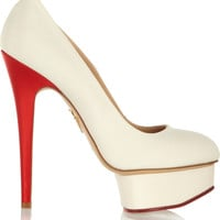 Charlotte Olympia - Love Dolly silk-twill pumps
