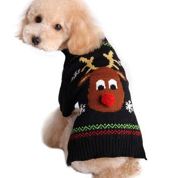 Rudolph The Reindeer Turtleneck Dog Christmas Sweater
