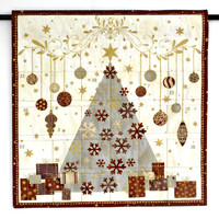 Advent Calendar, Quilted Christmas Wall Hanging, Fabric Calendar with Treat Pockets, Childrens Activity Calendar, Scandinavian Style