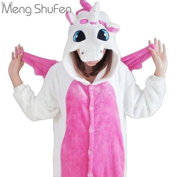 DCCKU62 2017 Unisex Adult Unicorn pajamas Costume Cartoon Animal Panda Pajamas unicornio Onesuit Pyjamas For Men Women Girls
