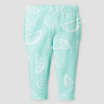 Baby Girls' Ruffle Bum Legging - Baby Cat & Jack ™ Aqua/Fruit Print