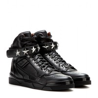 givenchy - tyson stars leather high-top sneakers
