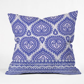 Aimee St Hill Decorative Blue Throw Pillow