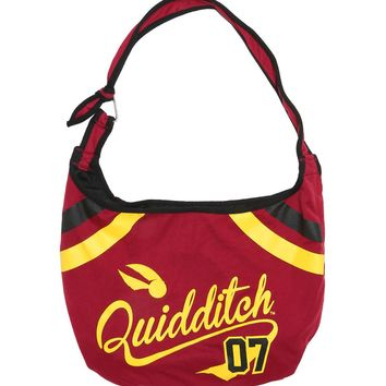 Licensed cool Harry Potter Quidditch Game 07 Varsity School Hobo Tote Bag School Purse NEW