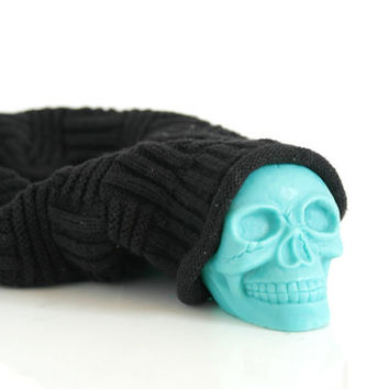 Skull Soy Candle 6 oz PICK YOUR COLOR
