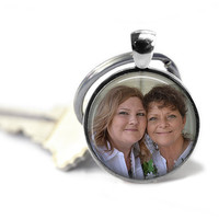 Photo Keychain, Teachers Gift, Birthday Gift, Photograph Keychain