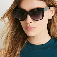 Metallic-Trimmed Cat Eye Sunglasses