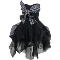 Bettie Bow Grey Check Dress - Kelly Ewing - Polyvore