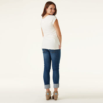 Raven + Lily Ivory Mayan Print Neary Tee White