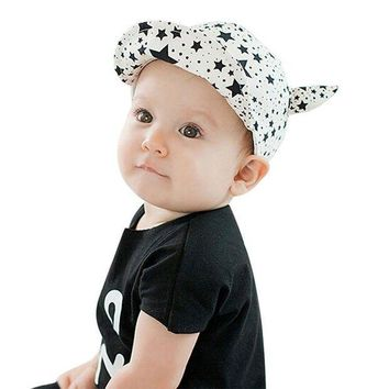 ONETOW 2017 Cute Toddler Sun Cap Baby Girl Boys Baseball Stars Ox horn Pattern Beach Hat