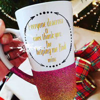 Speech Therapy mug/speech therapy/coffee mug/glitter dipped cup/glitter cup/teacher gift/inspirational mugs/coffee mugs/Down syndrome mugs