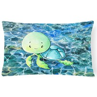 Sea Turtle Canvas Fabric Decorative Pillow BB8525PW1216