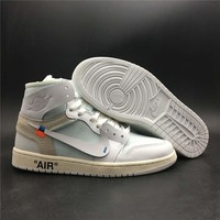 Jordan Retro 1 High Off-White White #AQ0818-100
