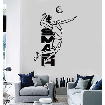 Vinyl Decal Wall Stickers Volleyball Smash Beach Sport For Living Room (z1664)