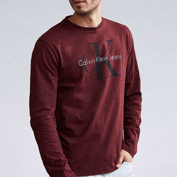 Calvin Klein Reissue Logo Long Sleeve Tee - Urban Outfitters