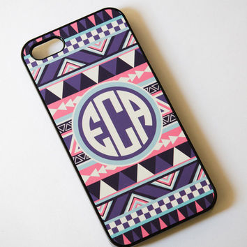 iPhone 5 Case - Monogrammed Personalized iPhone Case , Monogram iPhone 5 Case , iPhone 5 case , Geometric Case , Aztec ,iphone5 cover