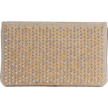 Christian Louboutin Loubiposh NV Spiked Glitter Clutch | Nordstrom