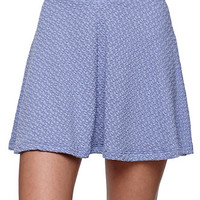 LA Hearts Textured Knit Skater Skirt at PacSun.com