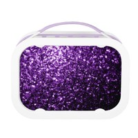 Beautiful Purple glitter sparkles print lunch box by PLdesign