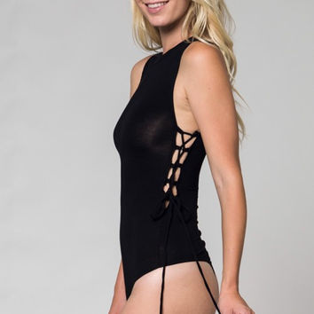 Side Tie Body Suit - 2 Colors!
