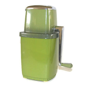 Vintage Swing A Way Ice crusher Green Retro Kitchen Home Decor Mini Bar Barware